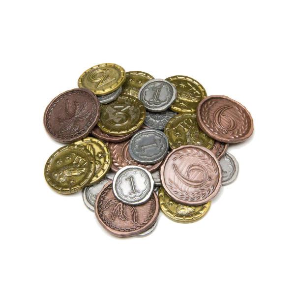 7 Wonders Duel Metal Coins - Broken Token Dueling coin set stack.