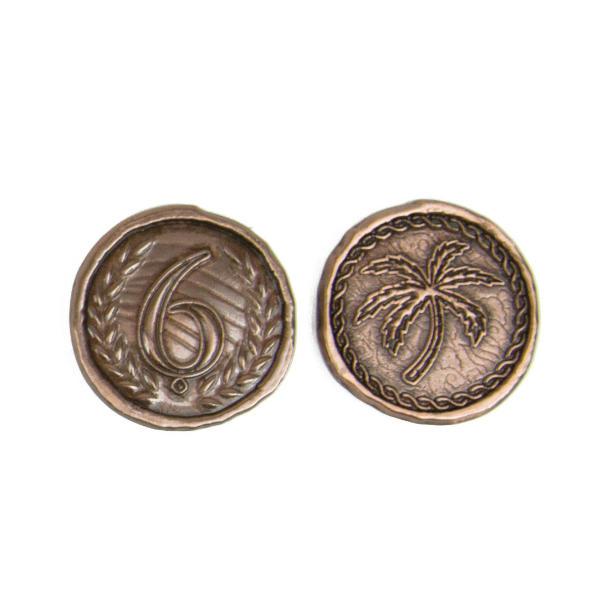 7 Wonders Duel Metal Coins - Broken Token Dueling coin set - value 6.