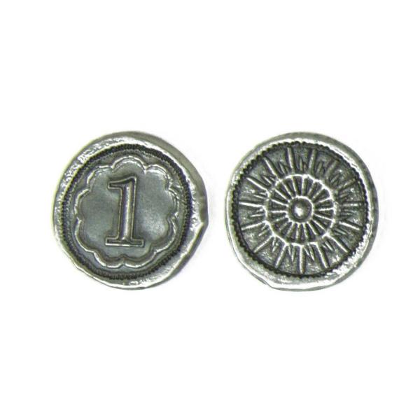 7 Wonders Duel Metal Coins - Broken Token Dueling coin set - value 1.