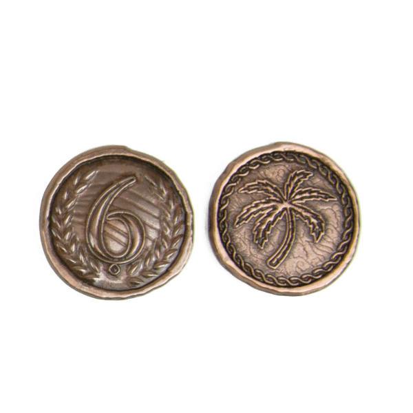 7 Wonders Metal Coins - Broken Token Wondrous coin set 6 piece.
