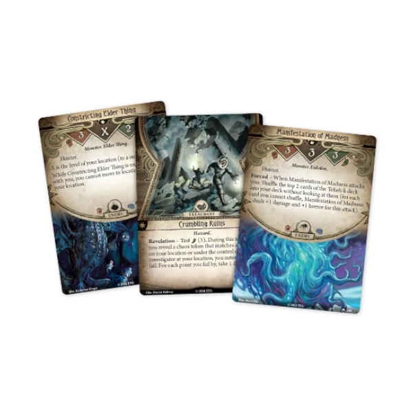 Arkham Horror LCG Edge of the Earth Campaign Expansion cards.