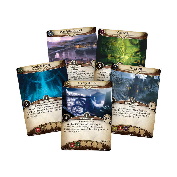 Arkham Horror Return to the Circle Undone Expansion Cards.