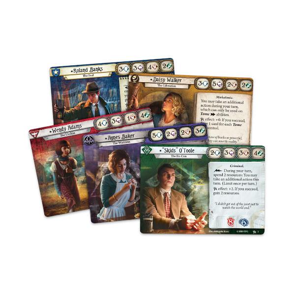 Arkham Horror Revised Core Set cards.