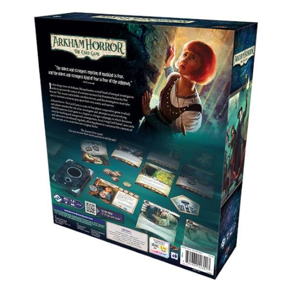 Arkham Horror Revised Core Set back of box.