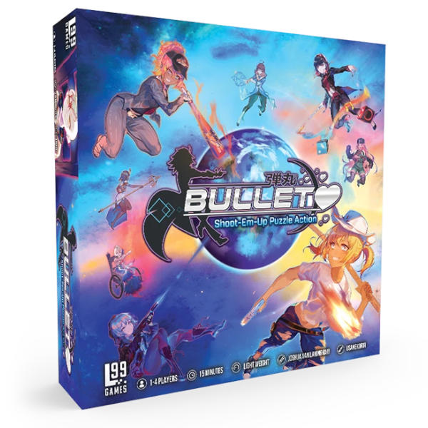 Bullet Board Game Box Cover.