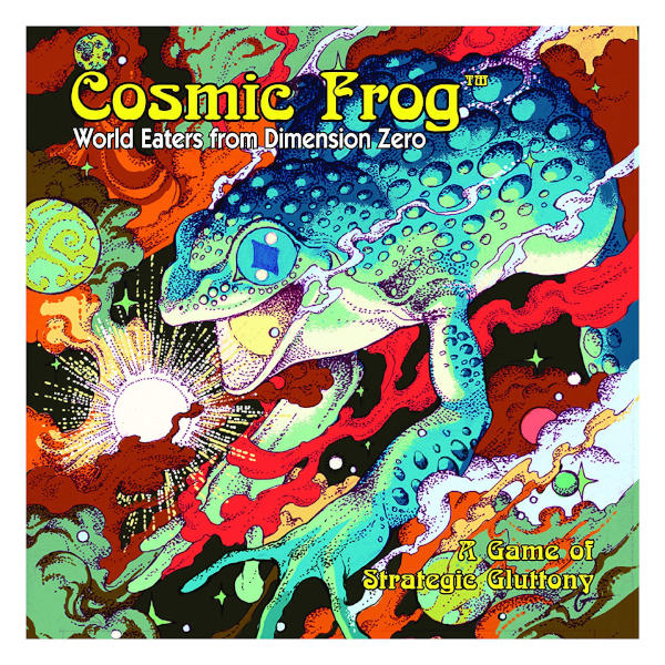 Cosmic Frog Board Game front cover.