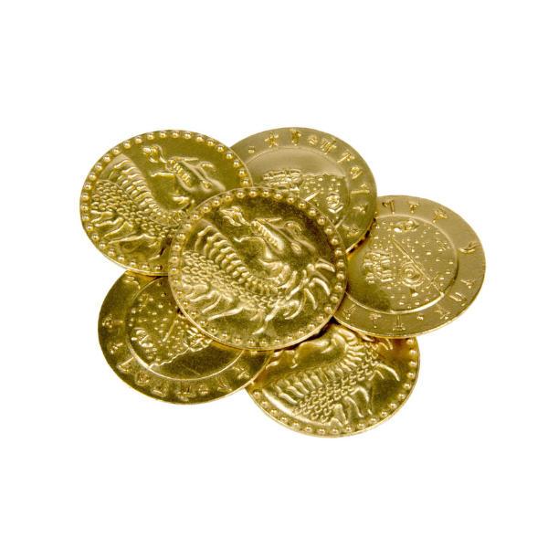 Dragons Themed Gaming Coins Jumbo 35mm (Broken Token) stack.