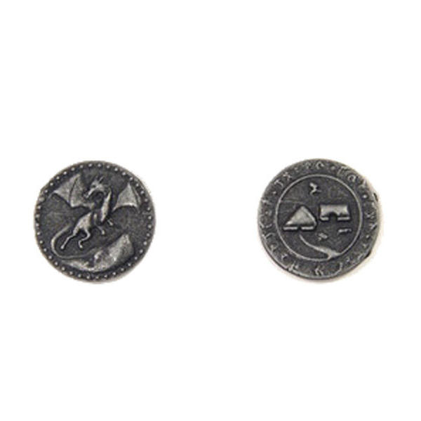 Dragons Themed Gaming Coins Small 20mm (Broken Token) back and front.