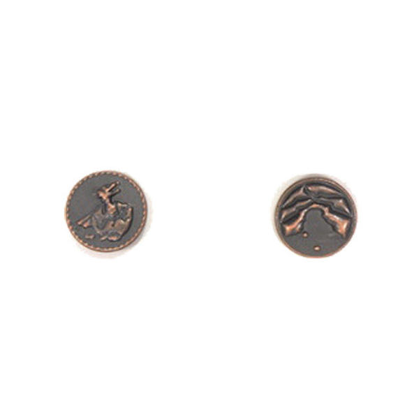 Dragons Themed Gaming Coins Tiny 15mm (Broken Token) back and front.
