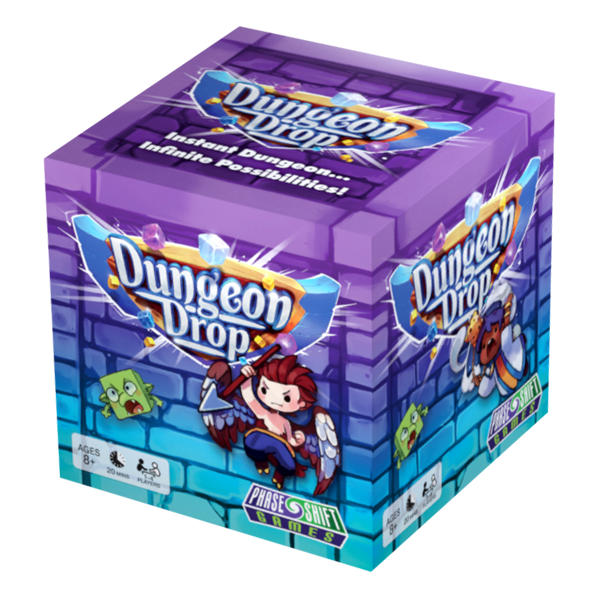 Dungeon Drop Board Game box cover.