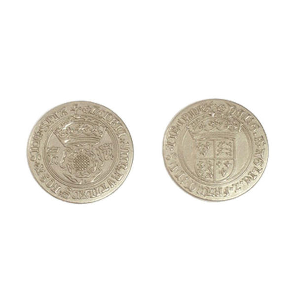 Early English Kings Themed Gaming Coins Large 30mm (Broken Token) back and front.