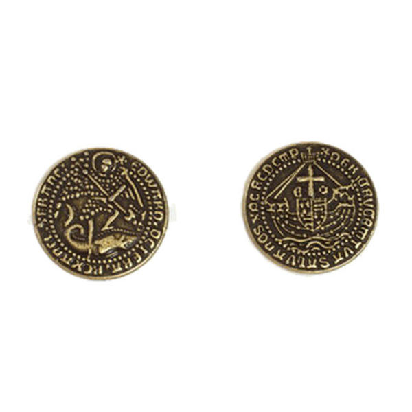 Early English Kings Themed Gaming Coins Medium 25mm (Broken Token) back and front.