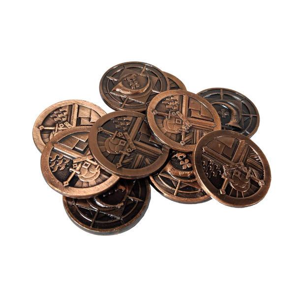 Fantasy Themed Gaming Coins Rangers Copper (Broken Token) stack.