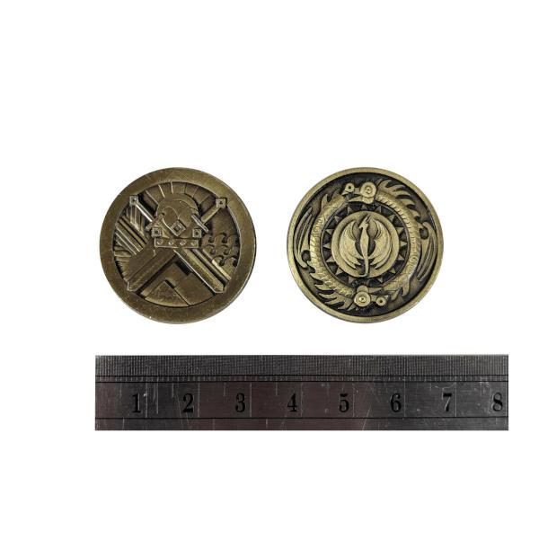 Fantasy Themed Gaming Coins Rangers Gold (Broken Token) measurements.