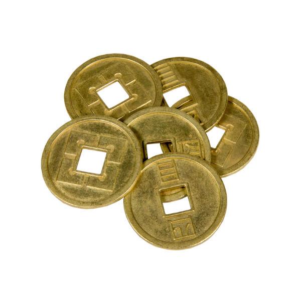 Japanese Themed Gaming Coins Jumbo 35mm (Broken Token) stack.