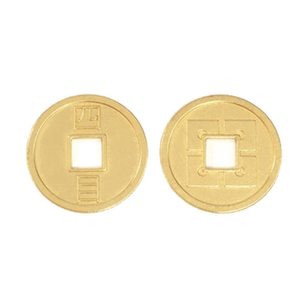 Japanese Themed Gaming Coins Jumbo 35mm (Broken Token) front and back.