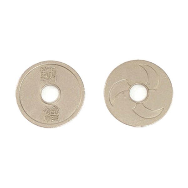 Japanese Themed Gaming Coins Large 30mm (Broken Token) back and front.