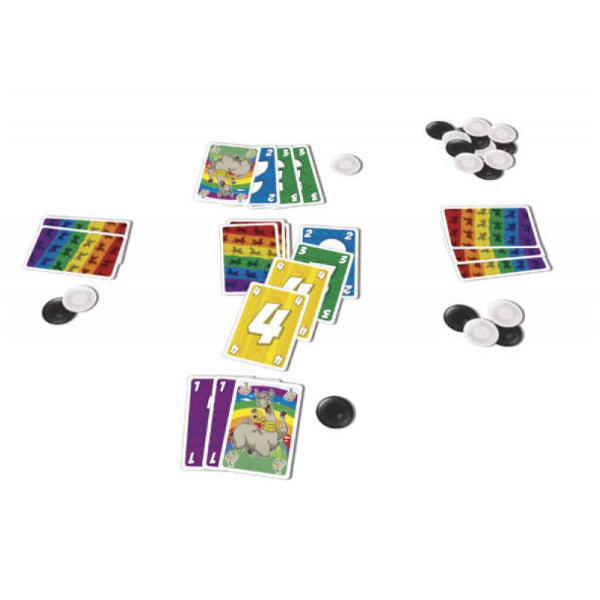 LLAMA Card Game components.