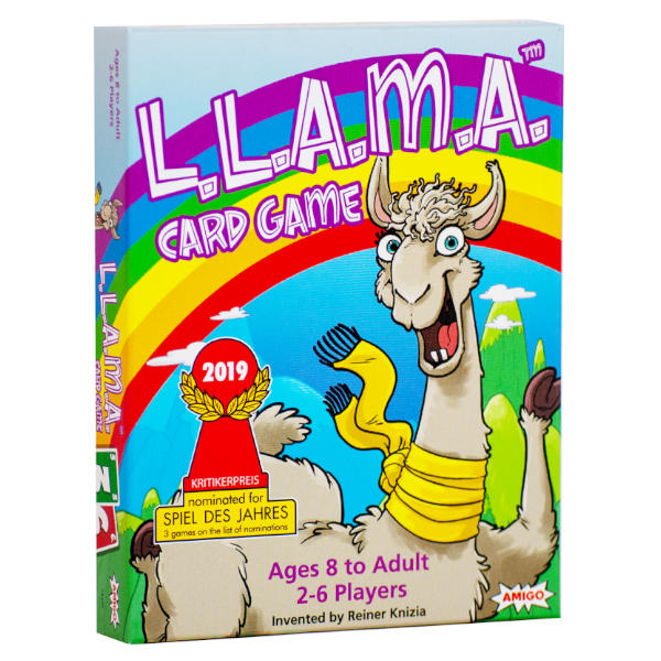 LLAMA Card Game front cover.