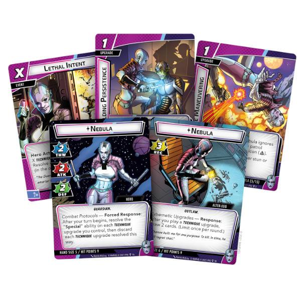 Marvel Champions Nebula Hero Pack cards.