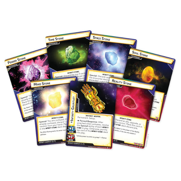Marvel Champions the Mad Titans Shadow Campaign Expansion cards.