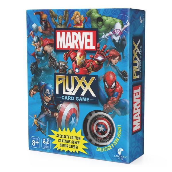 Marvel Fluxx Card Game box cover.