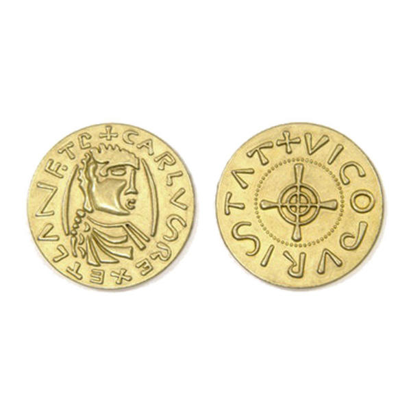 Middle Ages Themed Gaming Coins Jumbo 35mm (Broken Token) back and front.