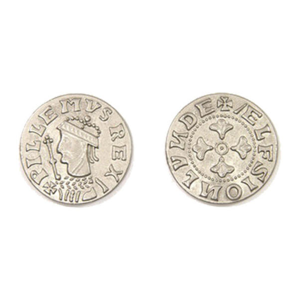 Middle Ages Themed Gaming Coins Large 30mm (Broken Token) back and front.