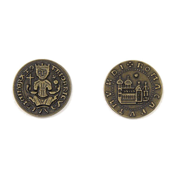 Middle Ages Themed Gaming Coins Medium 25mm (Broken Token) back and front.