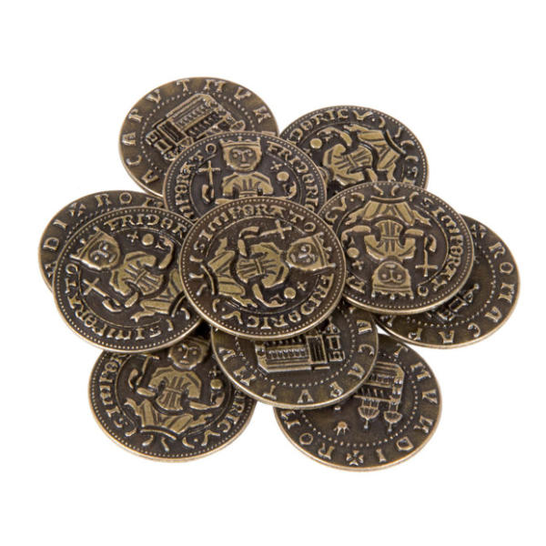 Middle Ages Themed Gaming Coins Medium 25mm (Broken Token) Stack.