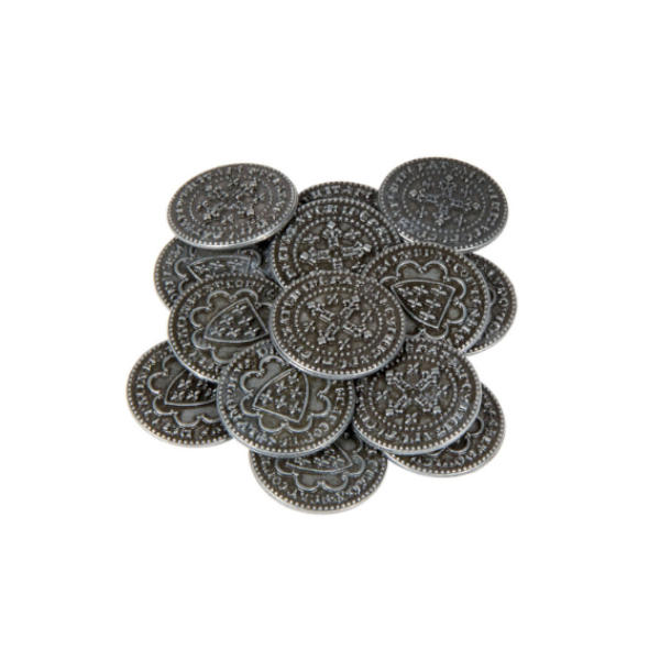 Middle Ages Themed Gaming Coins Small 20mm (Broken Token) Stack.