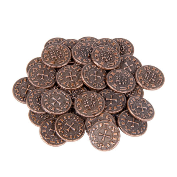 Middle Ages Themed Gaming Coins Tiny 15mm (Broken Token) Stack.