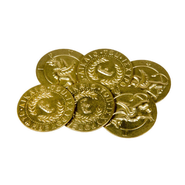 Mythological Creatures Themed Gaming Coins Jumbo 35mm (Broken Token) stack.