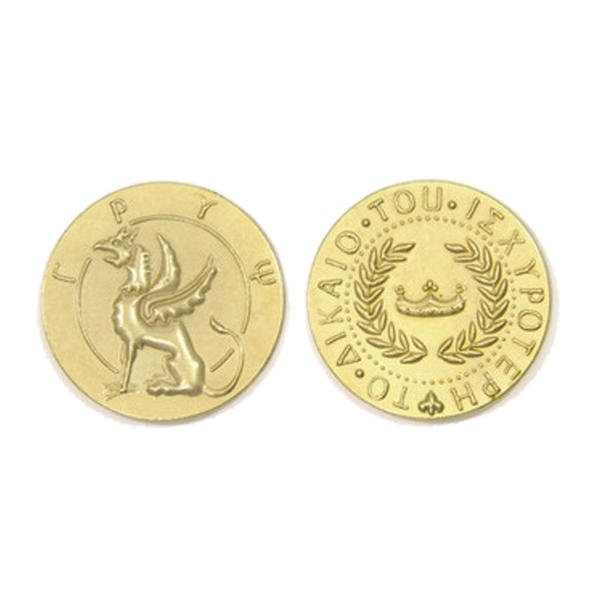 Mythological Creatures Themed Gaming Coins Jumbo 35mm (Broken Token) front and back.