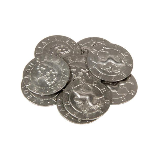 Mythological Creatures Themed Gaming Coins Large 30mm (Broken Token) stack.