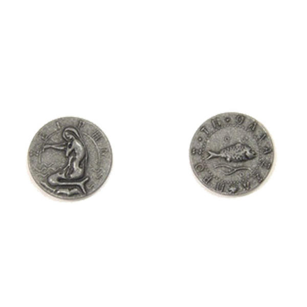 Mythological Creatures Themed Gaming Coins Small 20mm (Broken Token) front and back.