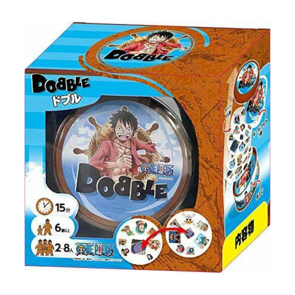 One Piece Dobble card game box cover.
