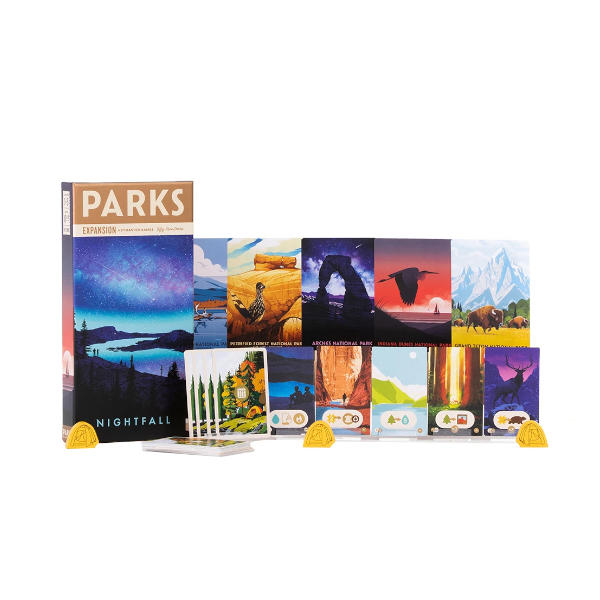 PARKS Nightfall Expansion box cover and components.