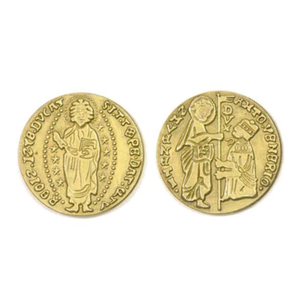 Renaissance Themed Gaming Coins Jumbo 35mm (Broken Token) back and front.
