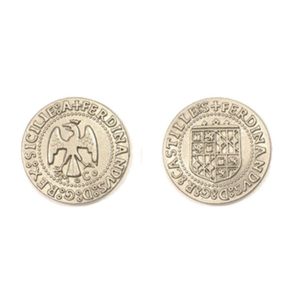 Renaissance Themed Gaming Coins Large 30mm (Broken Token) back and front.
