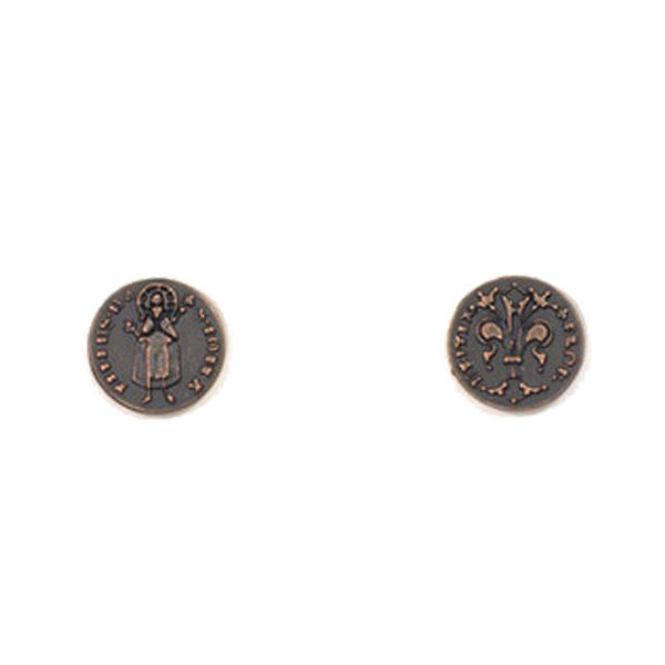 Renaissance Themed Gaming Coins Tiny 15mm (Broken Token) back and front.