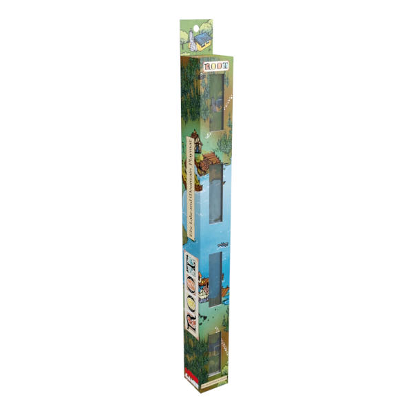 Root Playmat Mountain Lake box cover..
