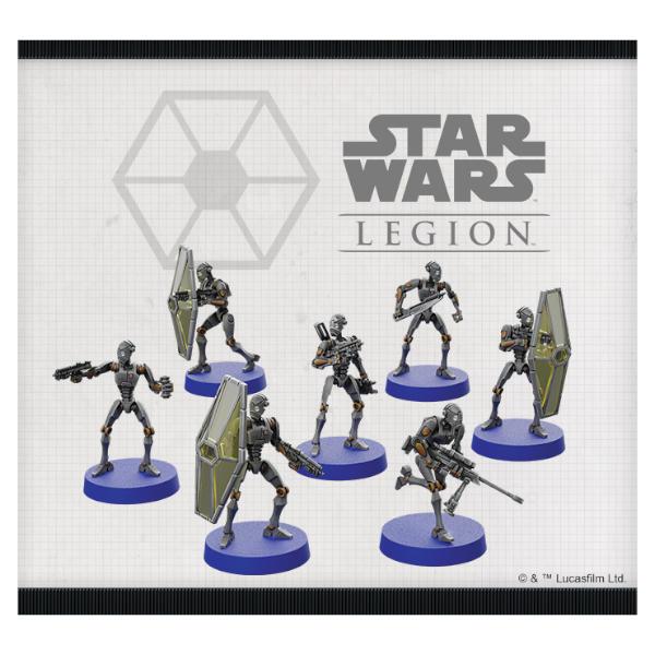 Star Wars Legion BX Series Droid Commandos Unit Expansion miniature sculpts.
