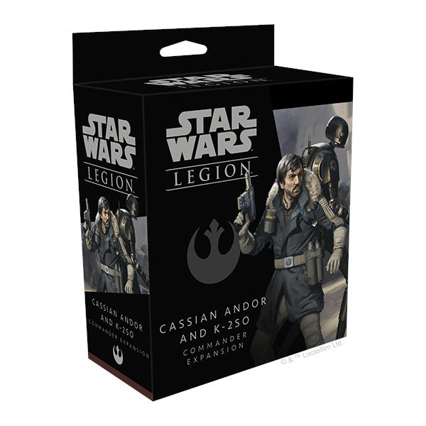 Star Wars Legion Cassian Andor and K-2SO Commander Expansion box cover.