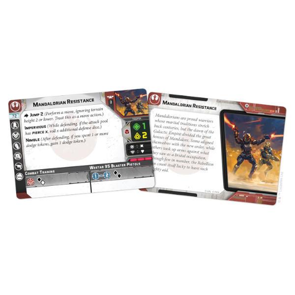 Star Wars Legion Clan Wren Unit Expansion card fan.