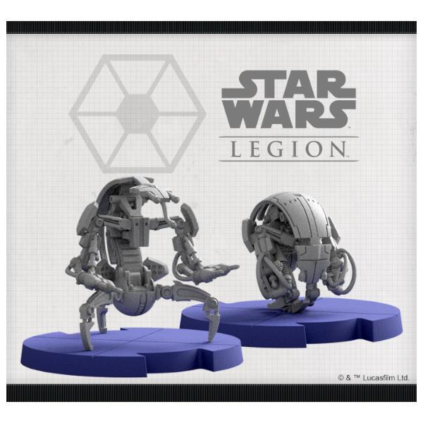 Star Wars Legion Droidekas Unit Expansion miniature sculpts.