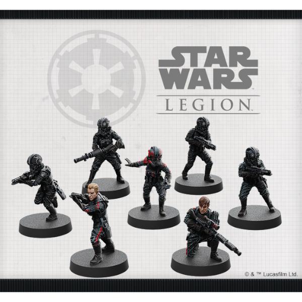 Star Wars Legion Inferno Squad Unit Expansion miniature sculpts.