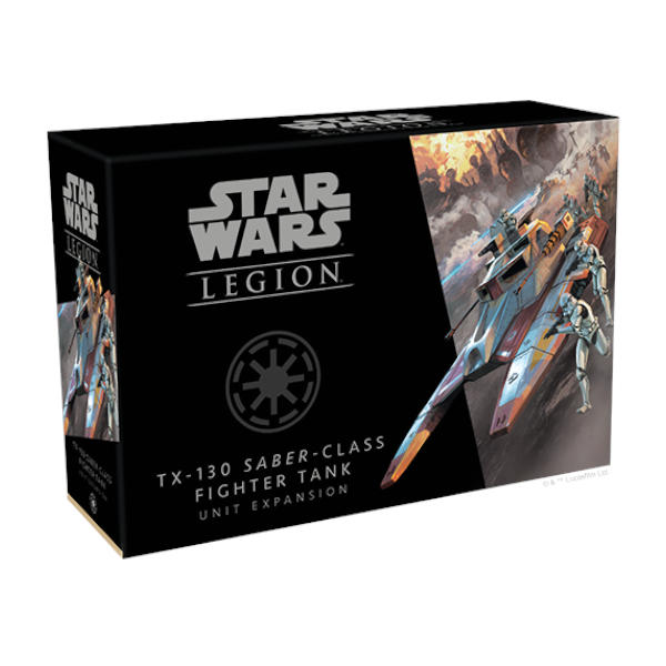 Star Wars Legion TX-130 Saber Class Fighter Tank Unit Expansion box cover.