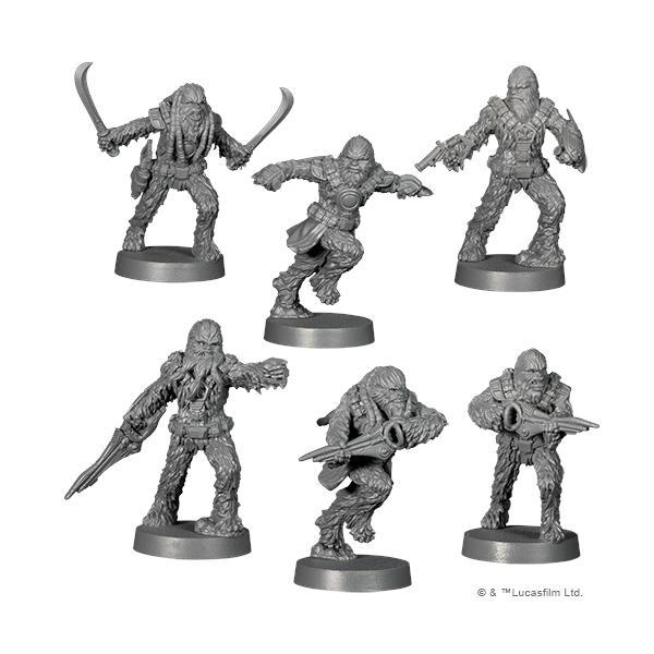 Star Wars Legion Wookiee Warriors Unit Expansion miniatures.