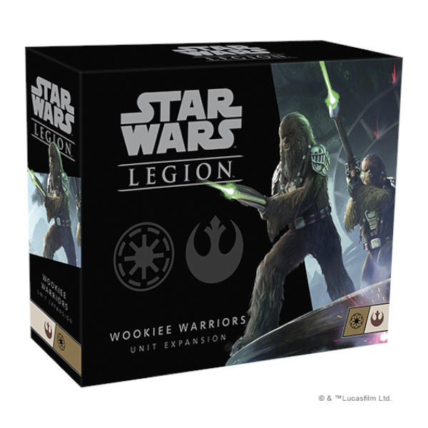 Star Wars Legion Wookiee Warriors Unit Expansion box cover.